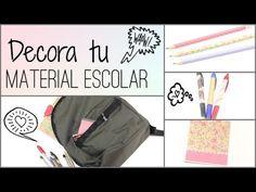 """DIY: DECORA TUS CUADERNOS MOCHILA Y LAPICES """"BACK TO SCHOOL"""" - YouTube"""
