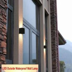 Led Waterproof Outdoor Aluminum Wall Lamp Up And Down Lighting Porch Garden Lights