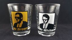 Reservoir Dogs Movie Mr. Brown and Mr. White Shot Glasses