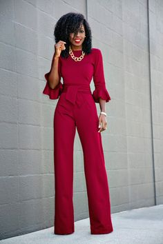 Style Pantry | Frill Sleeves Jumpsuit