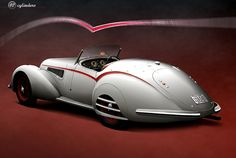 Alfa Romeo 8C 2900B Spider,1938. The Alfa Romeo 8C name was used on road, race and sports cars of the 1930s. The 8C means 8 cylinders, and originally referred to a straight 8-cylinder engine. The Vittorio Jano designed 8C was Alfa Romeo's primary racing engine from its introduction in 1931 to its retirement in 1939. http://en.wikipedia.org/wiki/Alfa_Romeo_8C