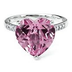 Lab-Created Pink Sapphire Ring #Glimpse_by_TheFind