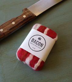 Felted Maple Bacon Bar Soap