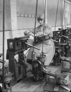 Thousands of British women worked in munitions factories. Their contribution greatly helped the war effort and led to Women's Suffrage ~