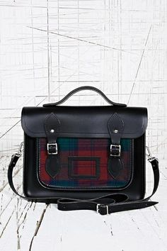 The Cambridge Satchel Company 13 Inch Satchel at Urban Outfitters Preppy Style, My Style, Penny Loafers, Tartan, Cambridge Satchel, Urban Outfitters, Style Inspiration, Backpacks, Fashion Design