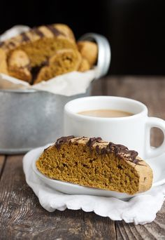 Pumpkin Spice Latte Biscotti -  with the coffee right in the biscotti! | Seasons and Suppers