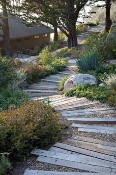 Garden Paths, Garden Landscaping, Landscaping Ideas, Natural Landscaping, High Desert Landscaping, Stone Landscaping, Coastal Landscaping, Gravel Garden, Garden Edging