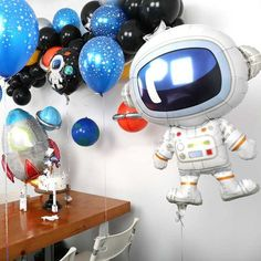 Outer Space Party Astronaut balloons Rocket Foil Balloons Galaxy Theme Party Boy Kids Birthday Party Decor Favors helium globals – Garden & Home Balloon Decorations Party, Birthday Party Decorations, Party Themes, Balloon Garland, Balloon Bouquet, Birthday Favors, Outer Space Theme, Outer Space Party, Galaxy Balloons