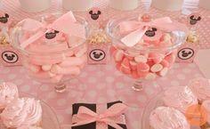 #bautizo #minnie #candy #table Candy Table, Cake, Desserts, Food, Fiestas, Tailgate Desserts, Pie, Kuchen, Dessert