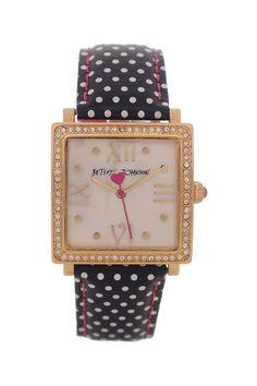 Women's Crystal Embellished Polka Dot Watch.