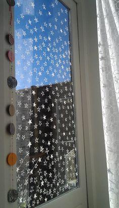 www.drawink.nl #raamtekening #chalkmarkers #stars #windowdrawing