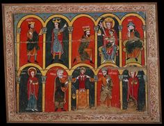 Anónimo castellano del primer tercio del siglo XIII. Esta tabla procede de la ermita de Nuestra Señora de Peñalba de Arnedillo (La Rioja). Es una pieza singular tanto por su estilo como por su composición.