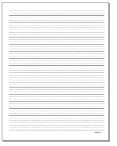 The handwriting paper templates on this page can be printed and used for penmanship practice or learning to write basic letter forms. Click through for wide layouts and many line sizes. Cursive Letters Worksheet, Cursive Chart, Handwriting Practice Worksheets, Letter Worksheets, Lined Handwriting Paper, Handwriting Lines, Lined Writing Paper, Letter A Crafts, Alphabet Crafts