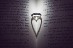 creative wedding ring photo by Duke Images, Orange County, California wedding photographer | via junebugweddings.com
