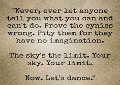 Sky is the limit!