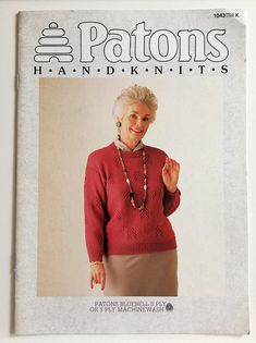 Patons knitting pattern book 1043  Ladies' 5 ply cable