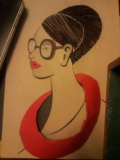 create beautiful lady through paper and thread