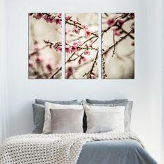 Τρίπτυχος πίνακας σε καμβά Blosson No2 Tapestry, Bed, Home Decor, Hanging Tapestry, Tapestries, Decoration Home, Stream Bed, Room Decor, Beds