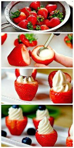 草莓卡士達點心杯