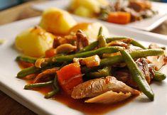 Geschmorte Putenunterkeule mit Gemüse, ein sehr schönes Rezept aus der Kategorie Schmoren. Bewertungen: 3. Durchschnitt: Ø 3,4.