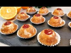 Biscuiți portocalii cu INGREDIENTE SIMPLE! Foarte moale și delicios! ASMR # 107 - YouTube Party Desserts, Asmr, Macarons, Donuts, Muffins, Cheesecake, Tart, Cupcakes, Cookies