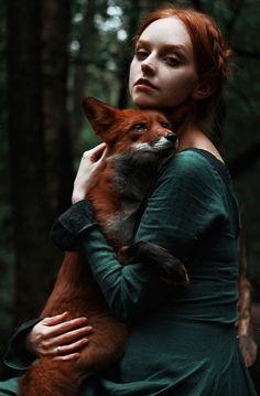 Girl and Fox by Alexandra Bochkareva Olga & Alice Facebook | ВКонтакте | Instagram Alexandra Bochkareva: Photos500px