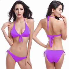 d1559b0e6d9f0 Europe And America Tassel Bikini Adjustable Big Cup High Waisted Bathing  Suits Sexy Beach Triangle Bikini