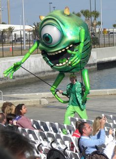Disney/Pixar One-Eyed Mike Wazowski from Monster's Inc. in the parade at the Disney Dream inaugural christening celebration
