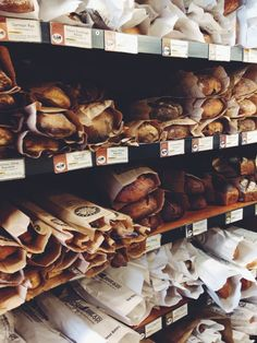 Bakery filled with delicious freshly baked loaves of bread Bakery Store, Bakery Cafe, Bread Display, French Bakery, Our Daily Bread, Bakery Design, Artisan Bread, Bread Baking, Coffee Shop