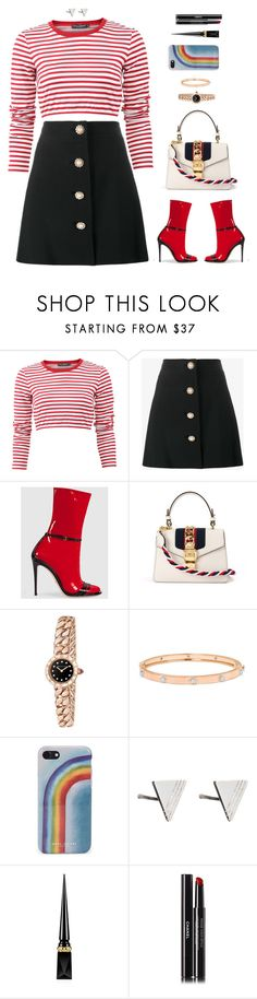 """Candy cane"" by xoxomuty ❤ liked on Polyvore featuring Dolce&Gabbana, Miu Miu, Gucci, Bulgari, Buccellati, Marc Jacobs, Rachel Jackson, Christian Louboutin, Chanel and WorkWear"