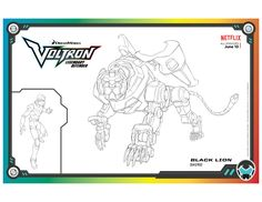 Voltron Black Lion Coloring Page Lion Coloring Pages, Cartoon Coloring Pages, Printable Coloring Pages, Coloring Pages For Kids, Coloring Books, Voltron Black Lion, All Episodes, Cartoon Tv, Colorful Pictures