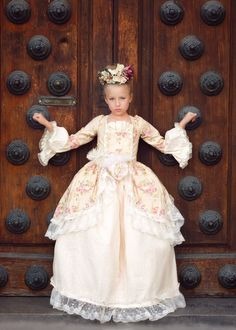 """Edwardian Rose""... A Floral Victorian Inspired Girls Ball Gown"