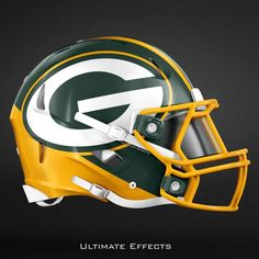 NFL Concept Helmets by Ultimate Effects Packers Nfl Football Players, Nfl Football Teams, Packers Football, Football Memes, Nfl Sports, Nfl Redzone, Giants Football, Nhl, New Nfl Helmets