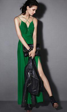 Topshop emerald dress 2011