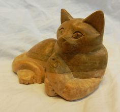 Hand Carved Wooden Cat with Mouse - Lovely Item | eBay