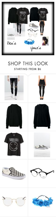 """Matching with bea"" by appel117-stefani on Polyvore featuring Liquor n Poker, Andrea Ya'aqov, Unravel, Gap, Vans and Ray-Ban"