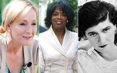J.K. Rowling, Oprah Winfrey and Coco Chanel
