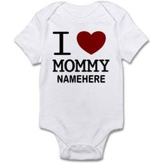 CafePress Personalized Name I Heart Mommy Infant Bodysuit, Infant Girl's, Size: 12 - 18 Months, White