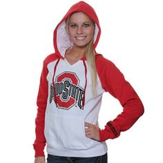 Ohio State Buckeyes Ladies Glimmer Rhinestone Pullover Hoodie Sweatshirt - White - college everything - football Hoodie Sweatshirts, Pullover Hoodie, Hoodies, Ohio State Buckeyes, Sport Outfits, Summer Outfits, Cute Clothes For Women, Lady, My Style