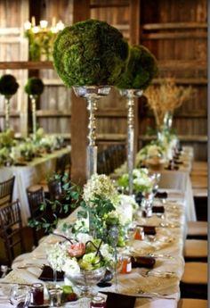 Lovely rustic wedding plan