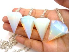 Gigantic faceted opal pendants ~ very much to die for