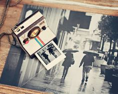 Polaroid Camera Necklace Locket  Custom Photo by StrangelyYours, $35.90