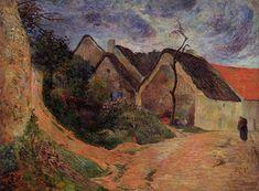 Village street, Osny, 1883 by Paul Gauguin, Early works. Impressionism. cityscape. Ny Carlsberg Glyptotek, Copenhagen, Denmark