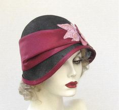 Womens Hat 1920s Flapper Hats Cloche Millinery Straw by BuyGail, $215.00