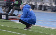Head coach  of Hellas Verona  Andrea Mandorlini looks on during the Serie A match between Hellas Verona FC and Juventus at Stadio Marc'Anton...
