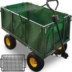 Heavy Duty Garden Trolley Large Cart Truck Transport Warehouse Farm Outdoor Big