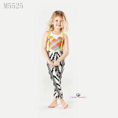 c76b3d4e074 Vogue Girls Outfits Rainbow Vest+Pants Set Ins Euro America Style Summer  Children Clothes 3