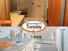 #GraniteTransformations #Bathroom #Remodel #TransformationsTuesday