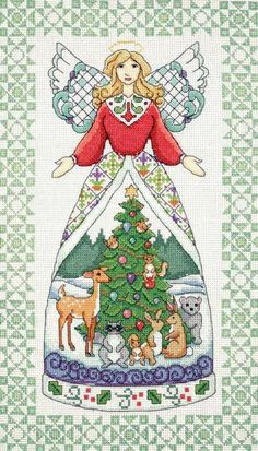 Winter Angel (counted cross stitch kit)