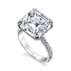 8.81-carat Asscher cut diamond Arabesque engagement ring